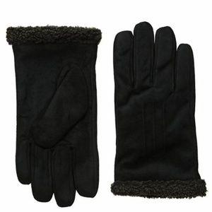 ISOTONER Men's Smartouch Gloves Faux Suede Fleece